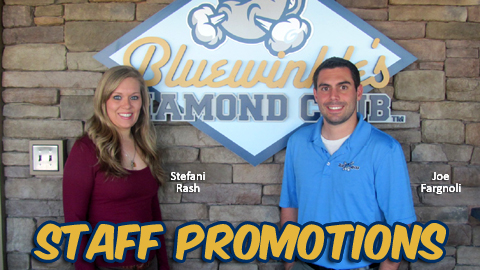Stefani Rash and Joe Fargnoli have been elevated to new roles inside the Blue Rocks' ticket office.