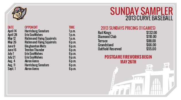 2013 Sundays Mini Plan Dates