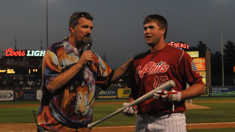 Reading's Scott Hunsicker and Eastern League MVP and Rookie of the Year Darin Ruf