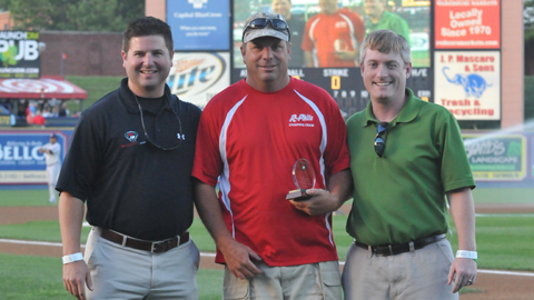 Diamond Pro's Brad Garrison, Reading's Dan Douglas and the Eastern League's Bill Rosario
