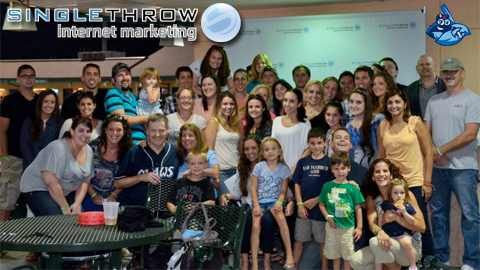 The Single Throw staff at their 2012 outing (courtesy Single Throw Internet Marketing)