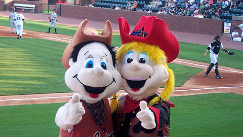 The fate of mascots Tennessee Tex and Tess may belong to Greeneville Astros fans.