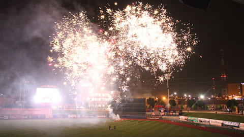 A total of 17 post-game Fireworks Shows have been scheduled for the 2013 season.