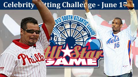 "Mitch Williams and Doc Gooden are the first two announced for the ""Celebrity Hitting Challenge."""