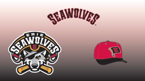 The secondary cap (right) features a reference to Erie's nickname of Flagship City.