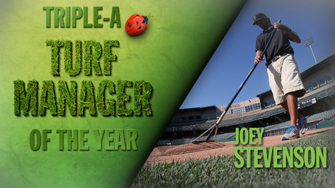 Joey Stevenson was named the top Triple-A Sports Turf Manager for the second straight year.