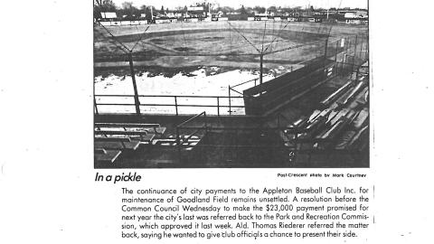Goodland Field in mid-March of 1987.