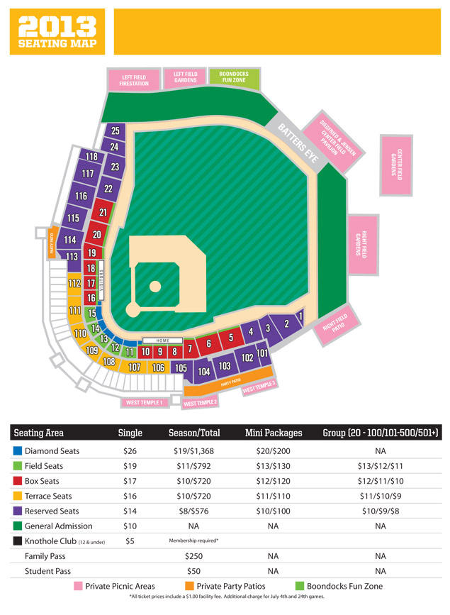 Spring Mobile Ballpark Seating Chart