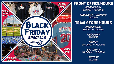 Stop by FirstEnergy Stadium on Black Friday for one-of-a-kind deals on Fightin Phils gear and ticket plans.