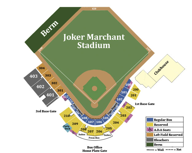 Lakeland tigers seating chart publix field at joker marchant