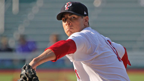 Zach Stewart posted a 3-5 record in 11 starts with the Pawtucket Red Sox in 2012.
