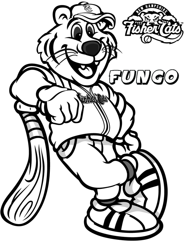 coloring pages new hampshire fisher cats for kids - Free Coloring Pages Baseball 2