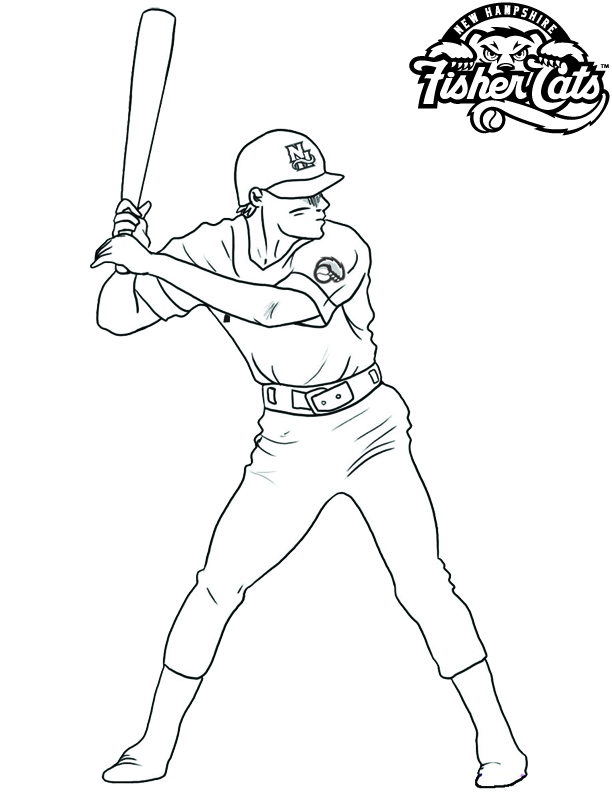 Coloring pages new hampshire fisher cats for kids for Mets coloring pages