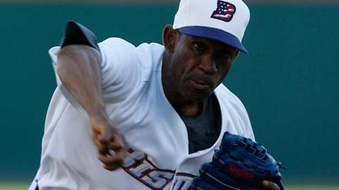 Ortiz started for the Bisons in their annual Independence Eve game in 2010.