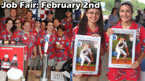 The BlueClaws annual Job Fair takes place on February 2nd.