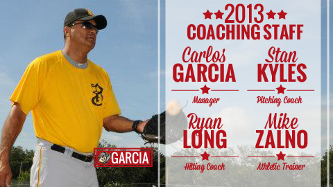 Carlos Garcia will manage the 2013 Curve, joined by Ryan Long, Stan Kyles and Mike Zalno.