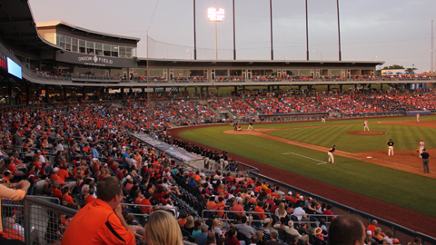 The annual Bedlam meeting between the OSU Cowboys and the OU Sooners will be played at ONEOK Field on May 10.