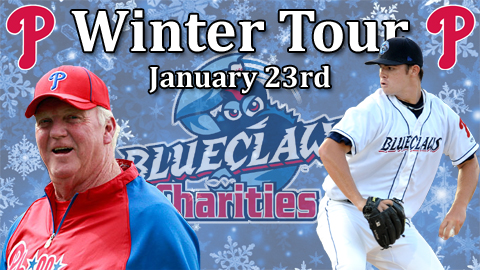 Charlie Manuel and Jesse Biddle will be at the Phillies Winter Tour on January 23rd.