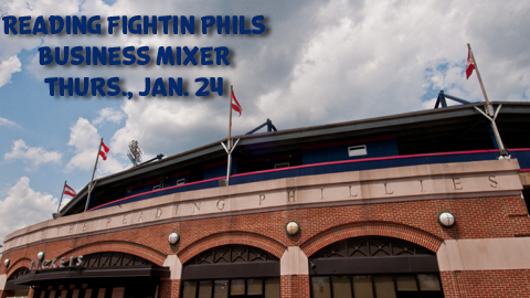 The Reading Fightin Phils will be holding a Business Mixer on Thursday, Jan. 24 at 4:00 p.m.