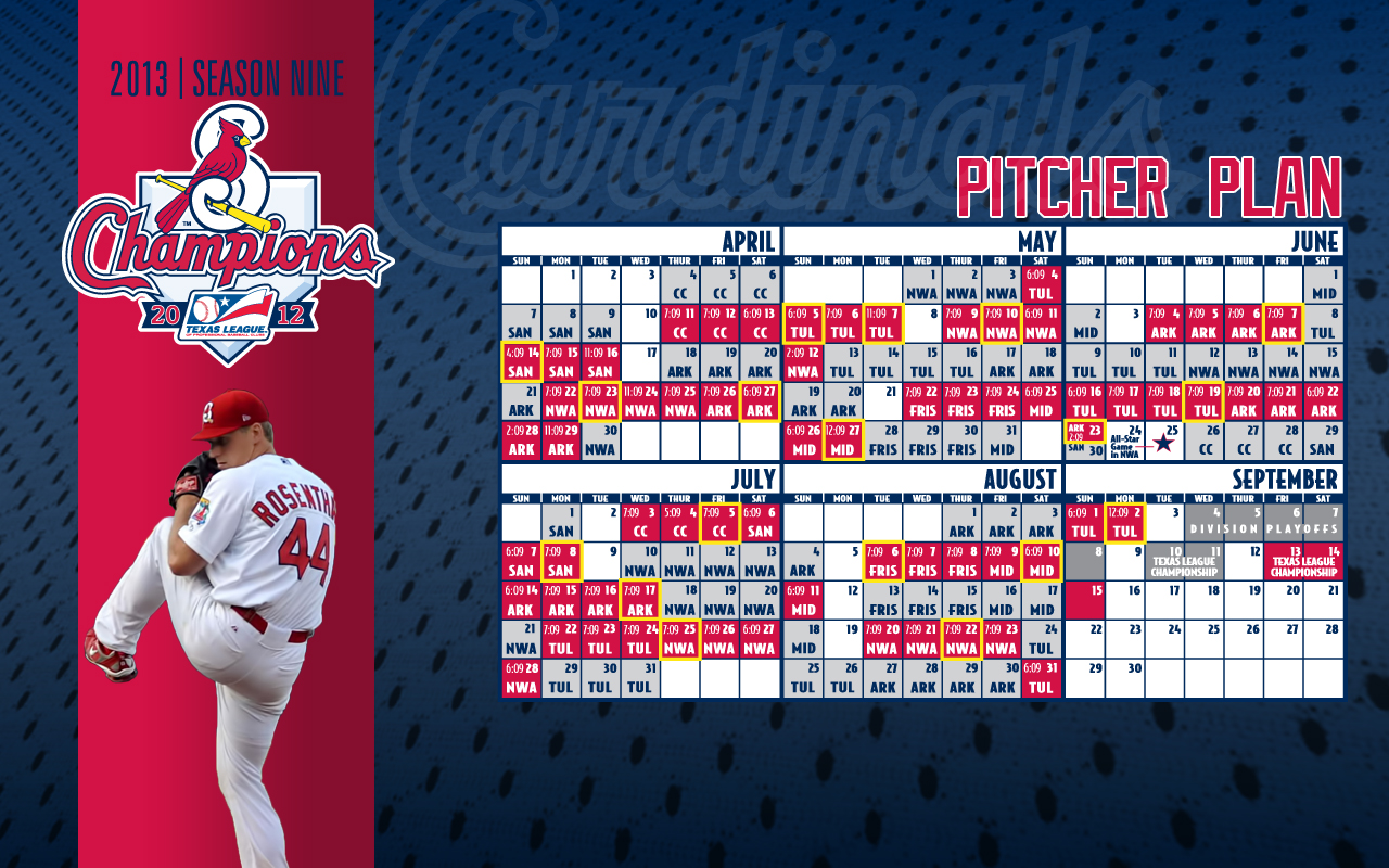download desktop schedules | springfield cardinals schedule