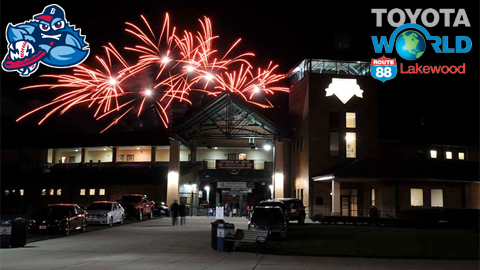 The BlueClaws will have 17 fireworks shows in 2013.