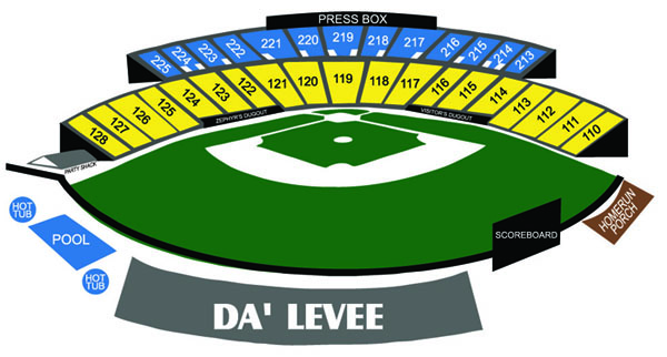 No zephyrs seating chart new orleans baby cakes tickets