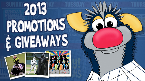 Cowboy Monkeys, Darth Vader and more will find their way to PNC Field in 2013.