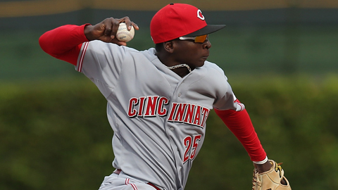 Didi Gregorius played eight games for the Reds last September.