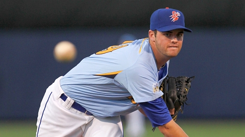 The Mets' Cory Mazzoni went 10-6 for St. Lucie and Binghamton in 2012.