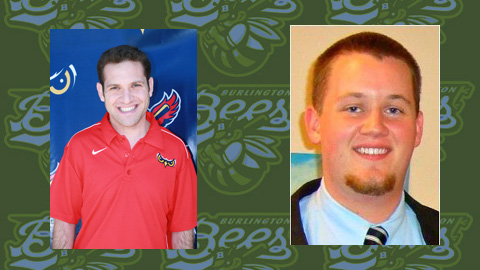 Burlington welcomes Brandon Marcus (left) and Scott Keltner to the front office.