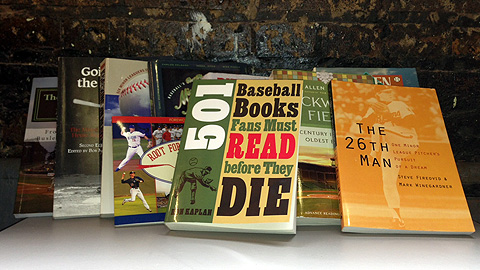 Kaplan's '501 Baseball Books' and nine other Minor League titles he might have considered.