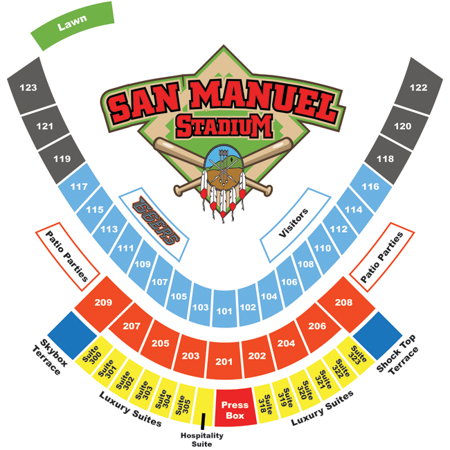 Seating Chart | Inland Empire 66ers Tickets