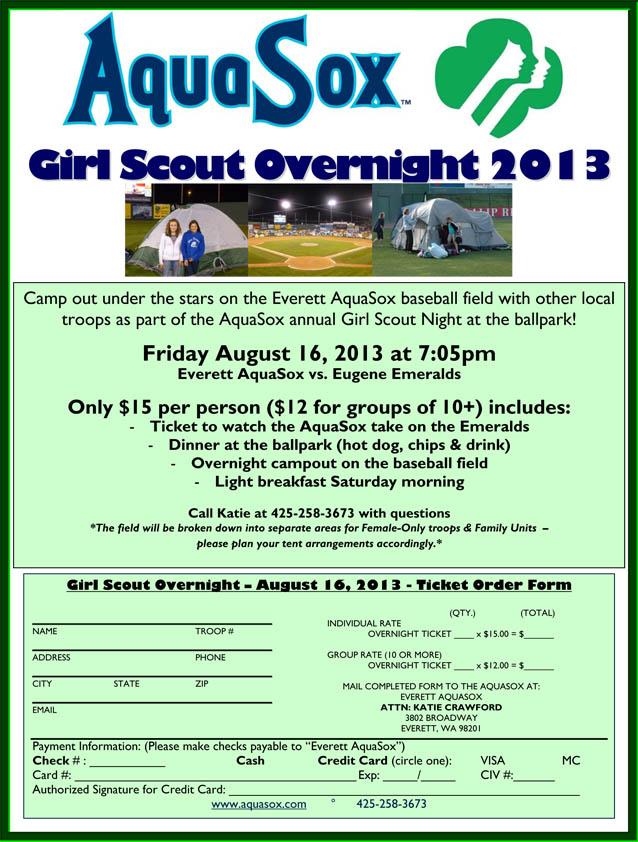 girl scout overnight everett aquasox content