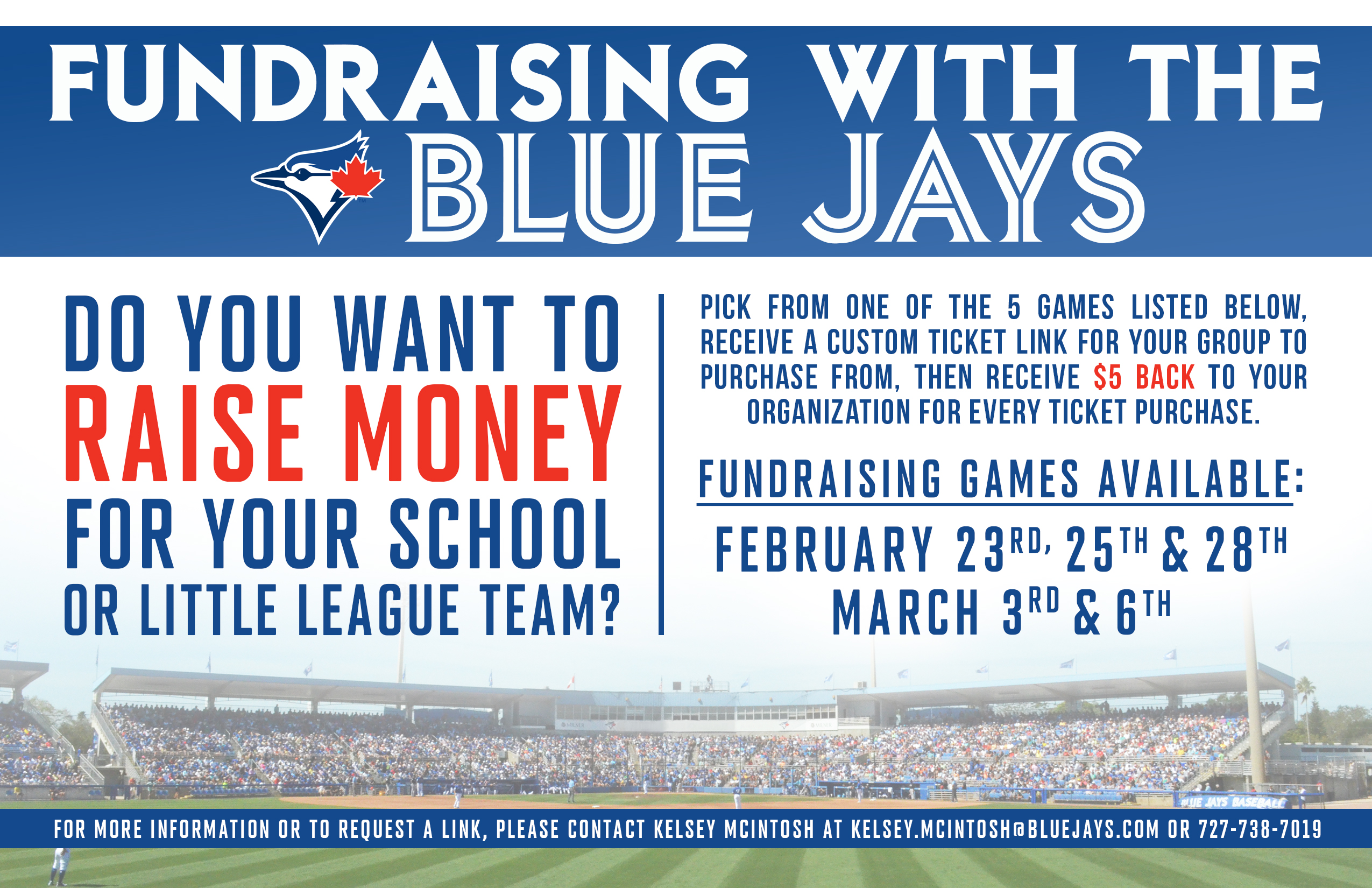 A Fundraiser Notification to get a Minor League Group