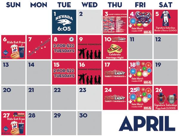 reno aces schedule 2016