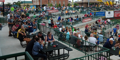 Home Run Porch: Located Beyond The Left Field Wall, The Home Run Porch  Provides An Exclusive Area For Your Outing. Complete With Food Rails In  Front Of Each ...