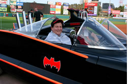 Burt in the Batmobile