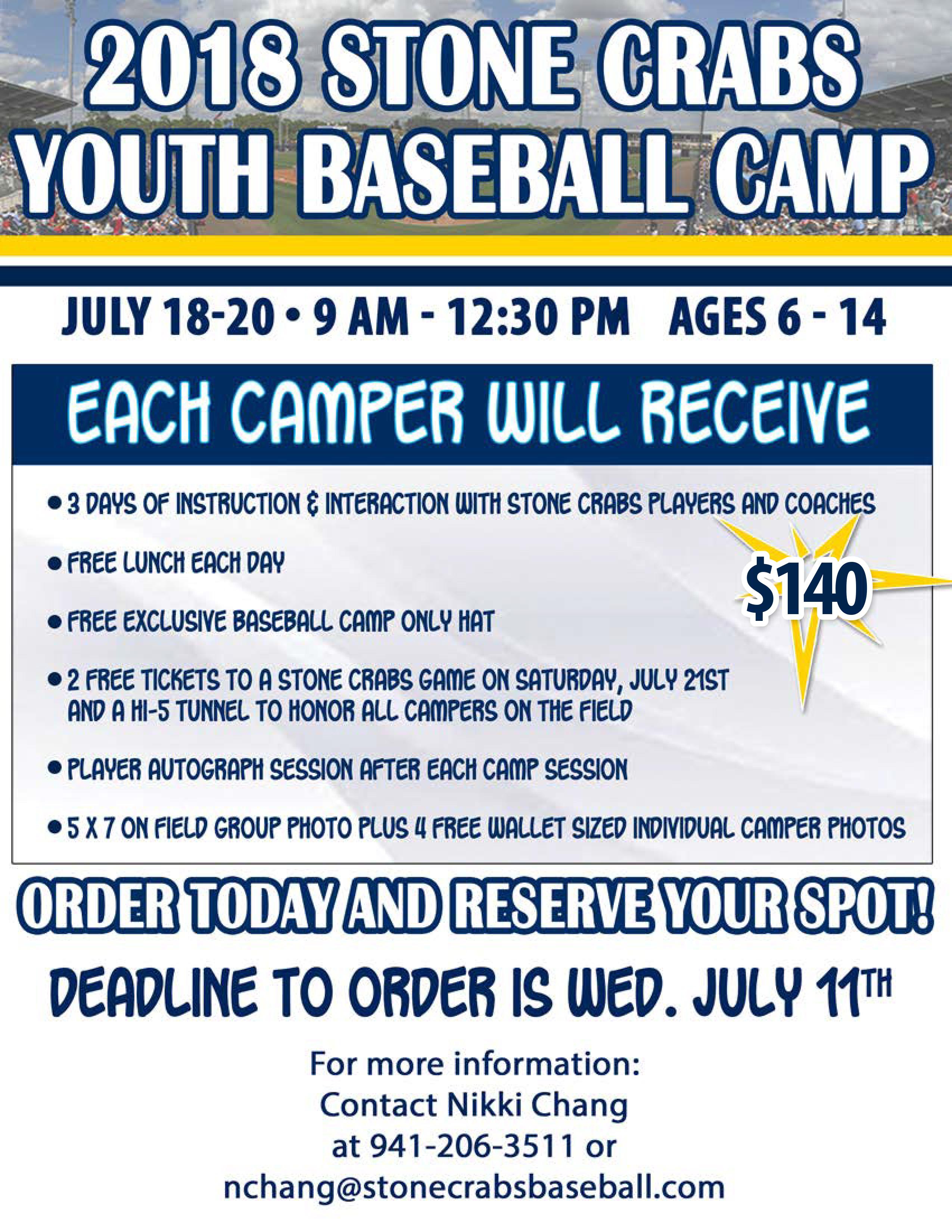 2018 Baseball Camp