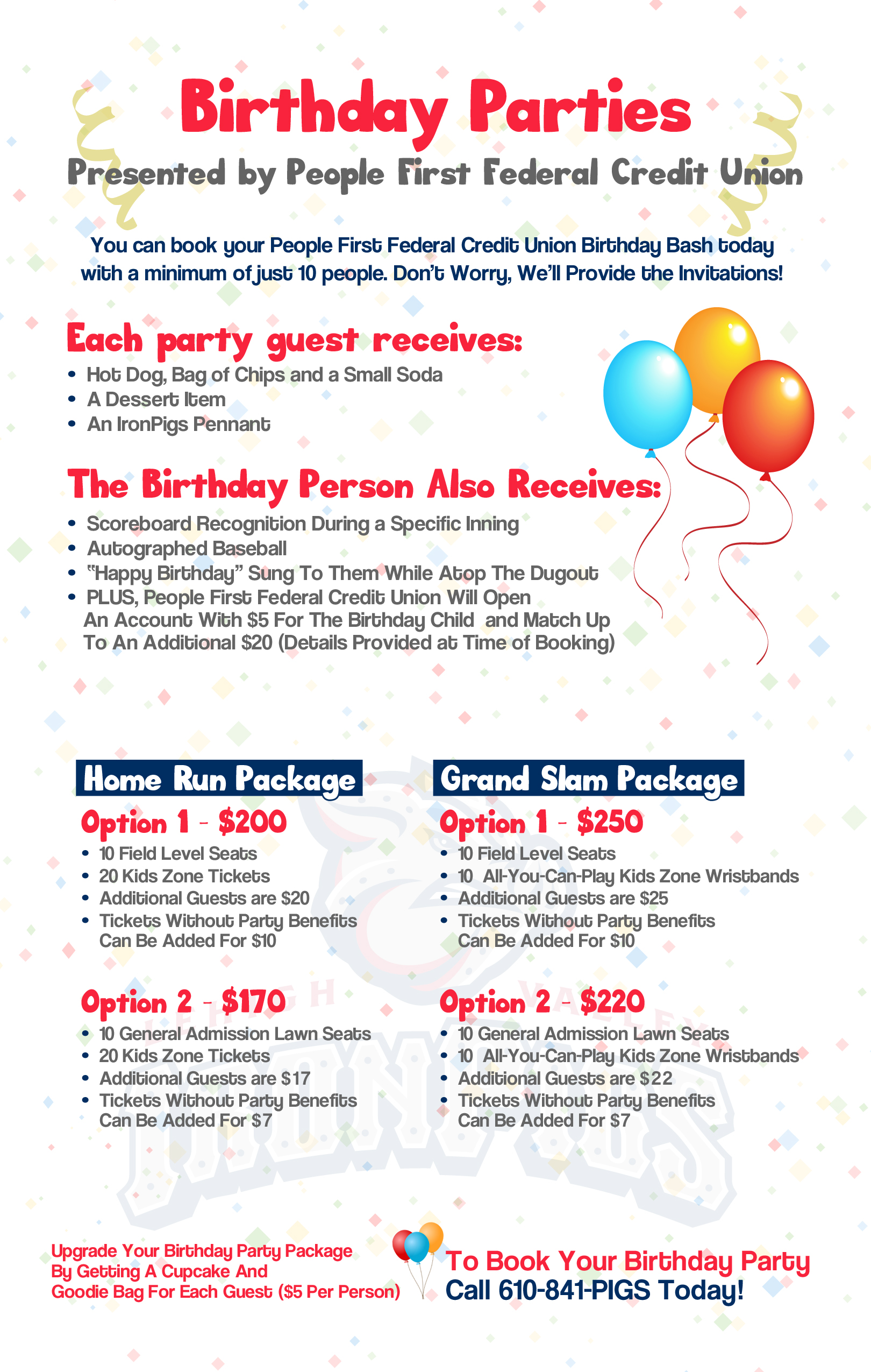 how to make a birthday party program