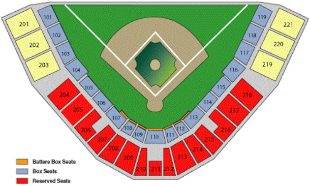 Seating Chart Florida Fire Frogs Tickets