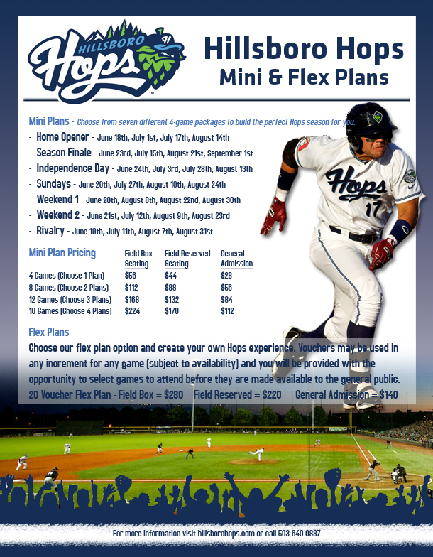 Mini & Flex Plans | Hillsboro Hops Tickets