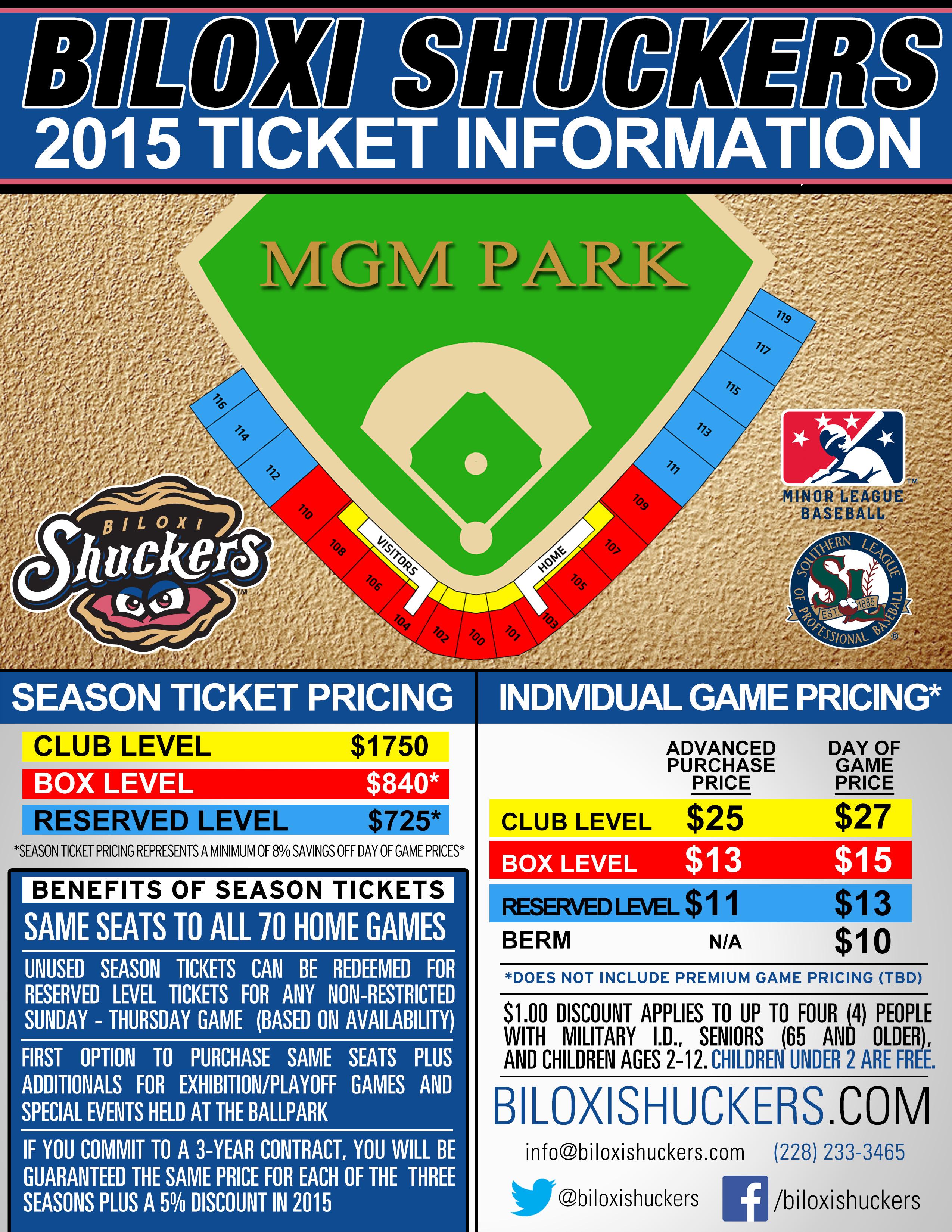 Season Tickets | Biloxi Shuckers Tickets