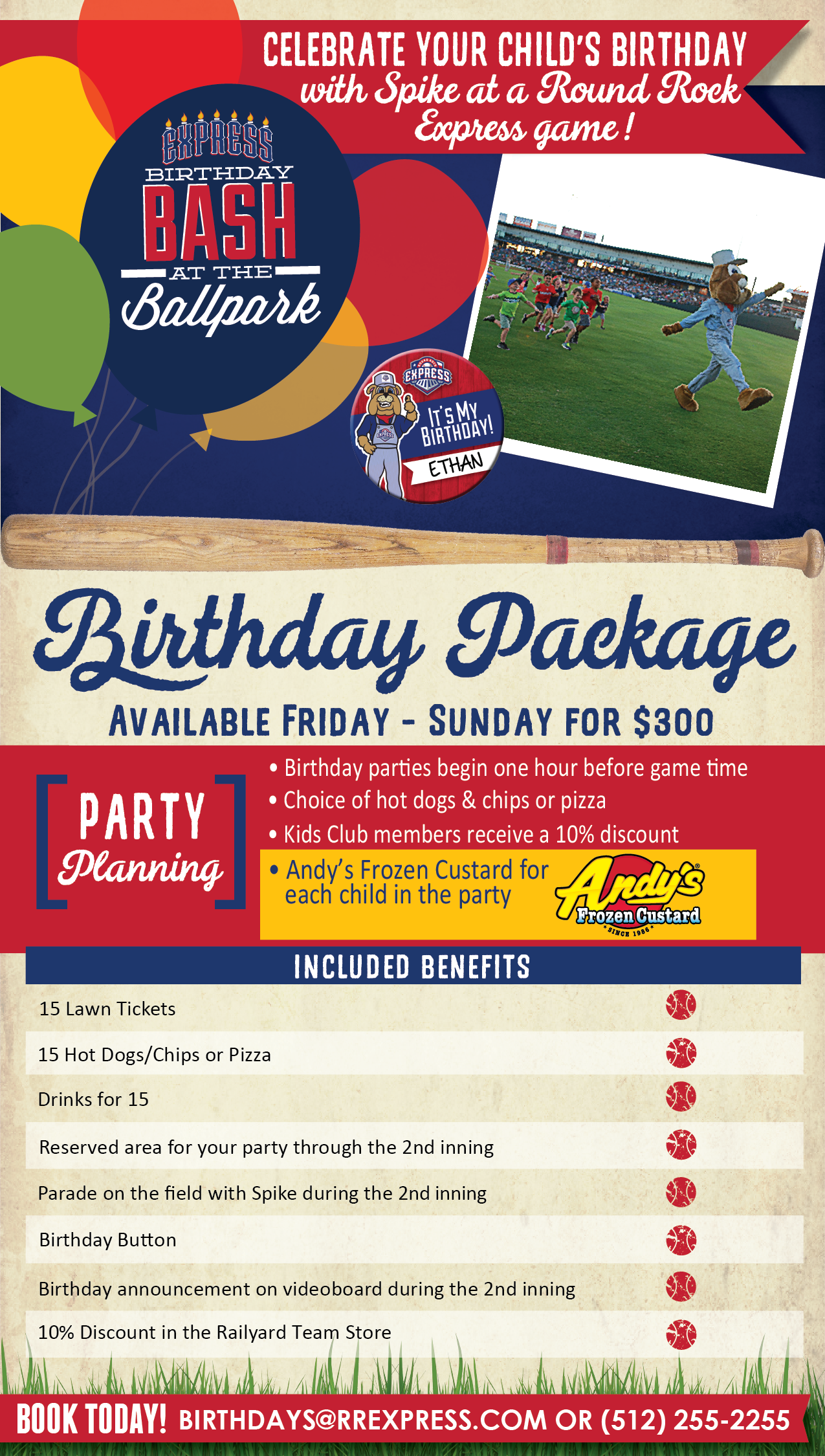 Birthday Parties Round Rock Express Group Outings