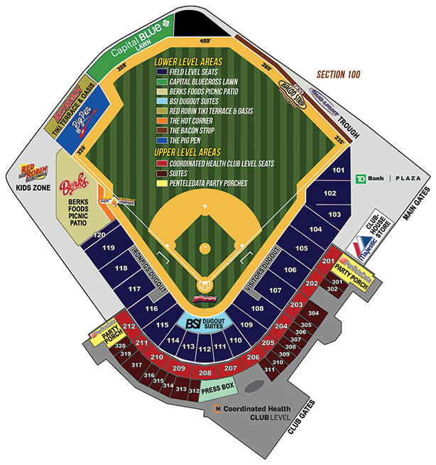 seating chart lehigh valley ironpigs coca cola park