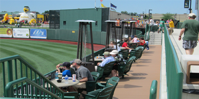Upper Deck: Located On The Second Floor, The Upper Deck At Four Winds Field  Is Directly Behind Home Plate Providing Guests With The Best Seats In The  House.