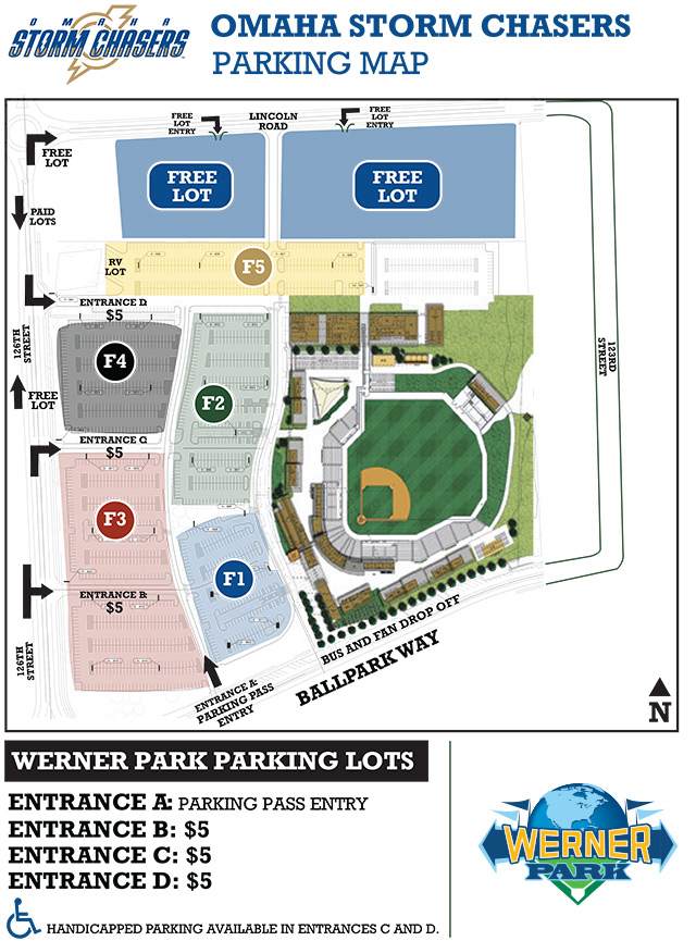 Parking & Tailgating | Omaha Storm Chasers Werner Park