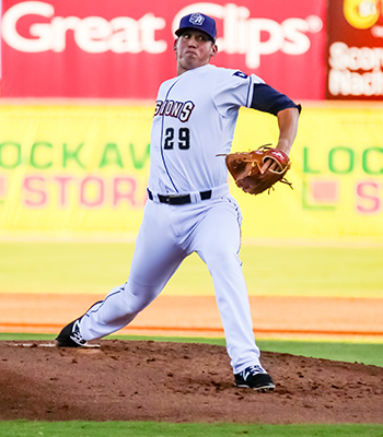 Photo of Kyle Lloyd during the 2nd inning - Courtesy of San Antonio Missions