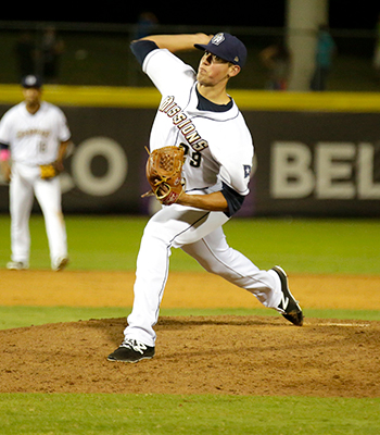 Photo of Kyle Lloyd's final pitch - Courtesy of San Antonio Missions