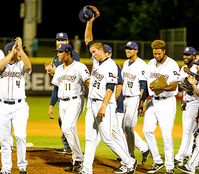 Photo of Kyle Lloyd during celebration of No-Hitter - Courtesy of San Antonio Missions