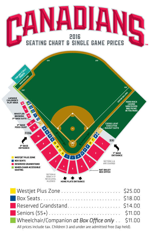 2016 Seating Chart